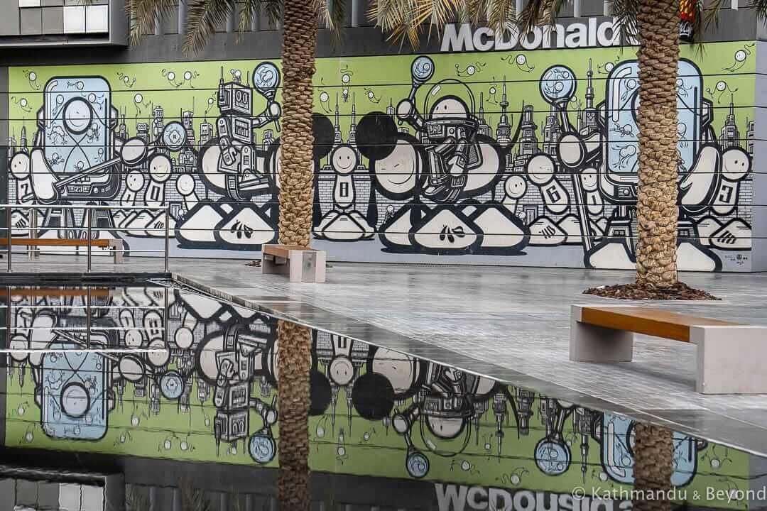 The London Police City Walk Street Art Dubai United Arab Emirates