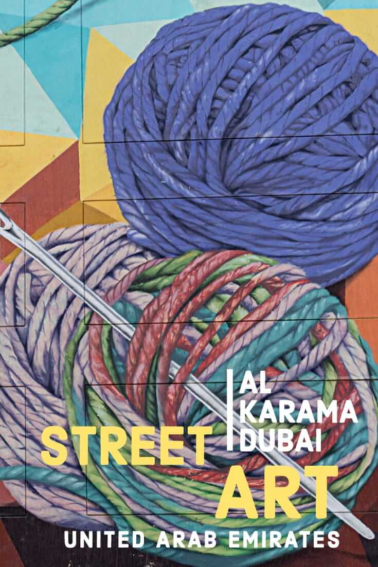 The best Dubai Street Art at Al Karama where colourful murals take over an entire street in the United Arab Emirates #streetart #graffiti #travel #uae