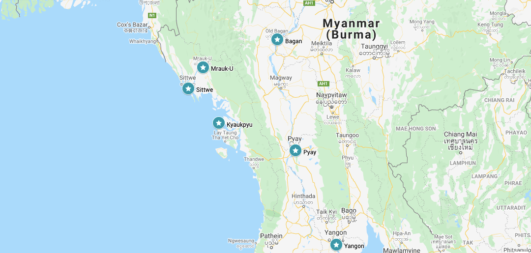 Back in the day Visiting Rakhine State in Myanmar (Burma) map