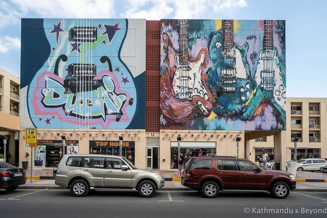 Guitar Hero by either @its.wazer OR @katun_ and @yumzone_ Al Karama Street Art Dubai United Arab Emirates