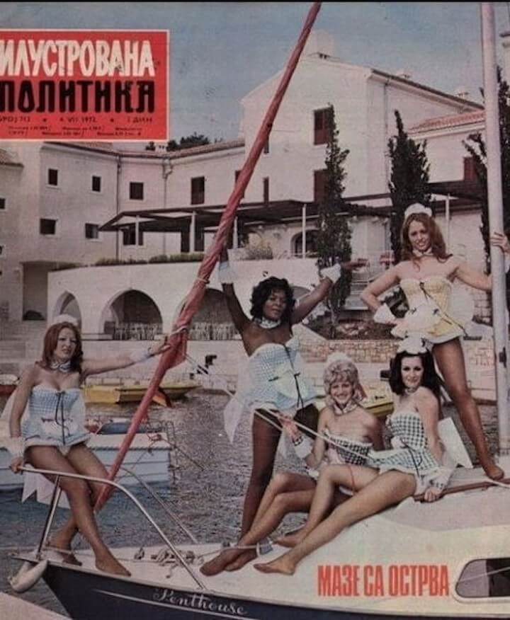 Penthouse Pets at the Haludovo Hotel, Krk Island circa 1972
