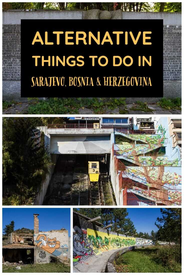 Alternative things to do in Sarajevo, Bosnia and Herzegovina, with a map of locations. A guide to unusual and Off-the-Beaten-Path places to see in Sarajevo #travel #Balkans #Europe #trlt