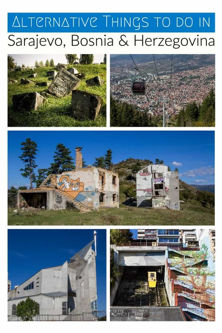 Alternative things to do in Sarajevo, Bosnia and Herzegovina, with a map of locations. A guide to unusual and Off-the-Beaten-Path places to see in Sarajevo #travel #Balkans #Europe