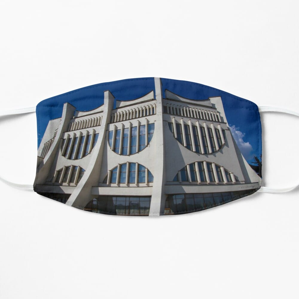 Brutalist architecture face mask