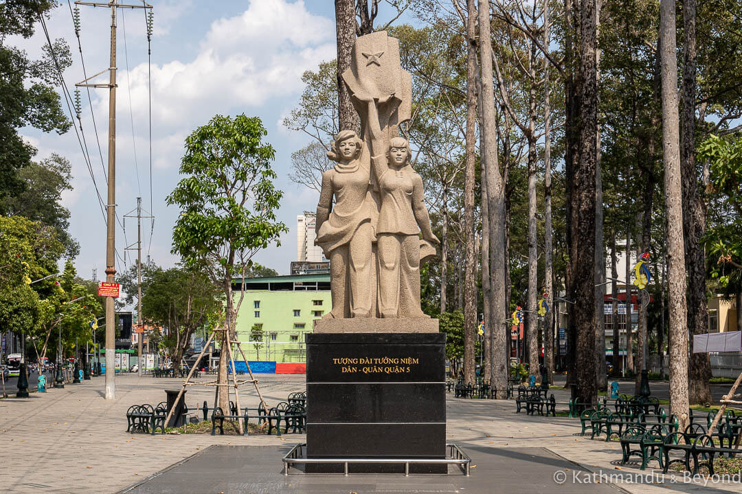 Monument to the People of District 5 Cholon Ho Chi Minh City Vietnam-3
