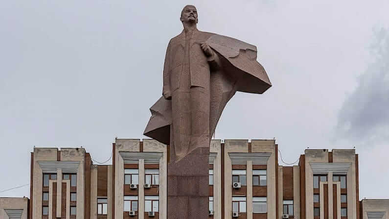 Photos of Lenin statues in the former Soviet Union