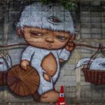 Street Art near Hua Lamphong Station in Bangkok, Thailand