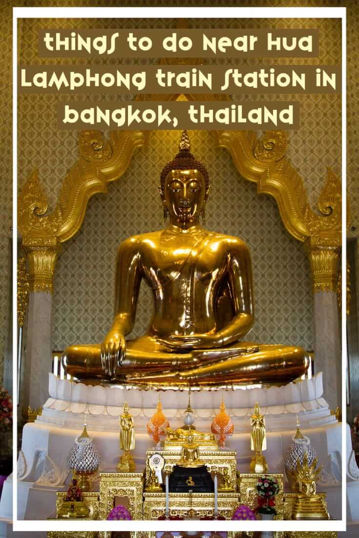 Things to do near Hua Lamphong train station in Bangkok, Thailand. A guide to getting off the beaten path in Bangkok #travel #SEAsia #Asia