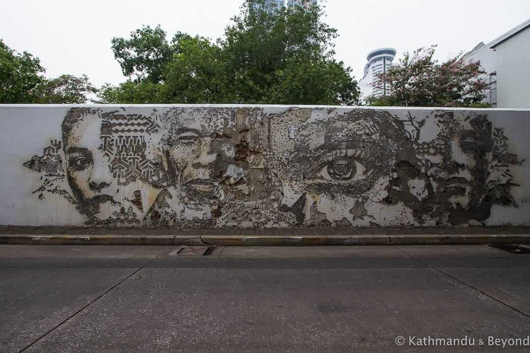 Vhils in Bang Rak District Bangkok Thailand
