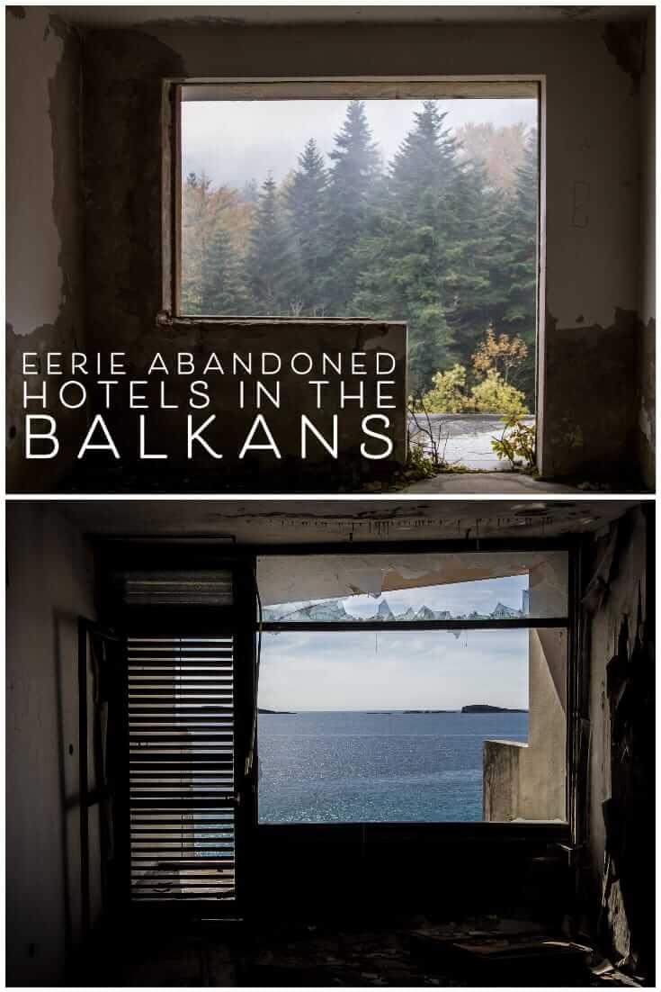 Eerie photos of abandoned hotels in the Balkans #travel #alternative