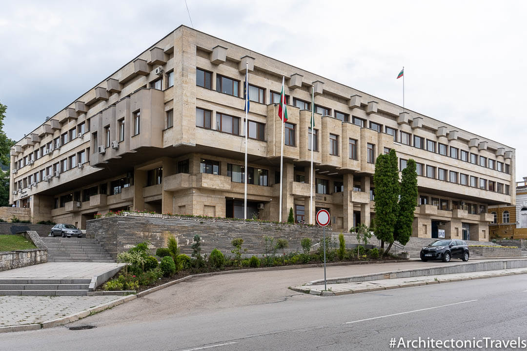 Municipality Hall (formerly Communist Party House) in Shumen, Bulgaria | Modernist | Socialist architecture | former Eastern Bloc