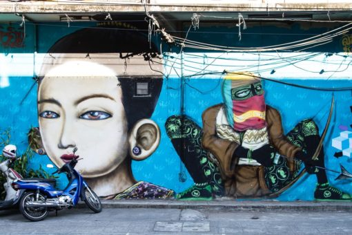 Street Art in Chiang Mai Old Town Thailand-2