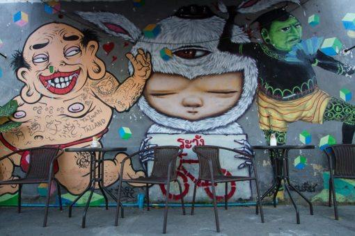 Street Art in Chiang Mai Old Town Thailand-23