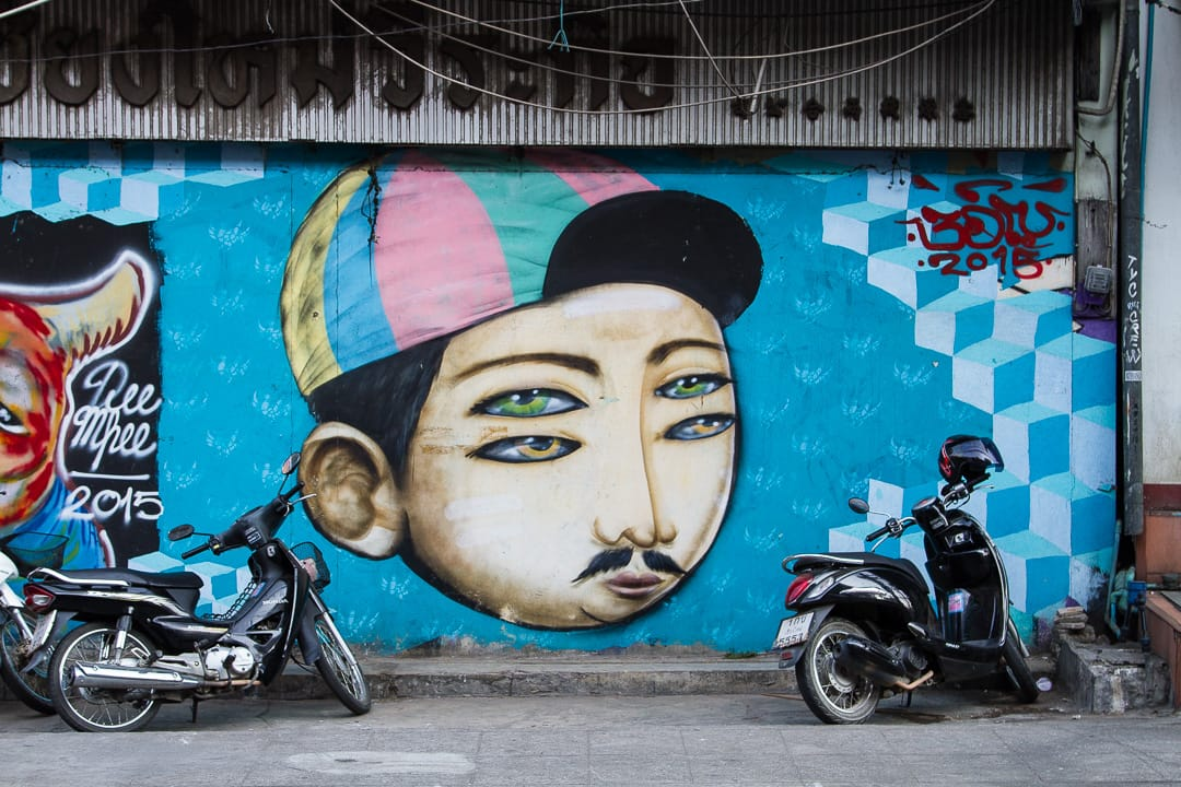 Street Art in Chiang Mai Old Town Thailand
