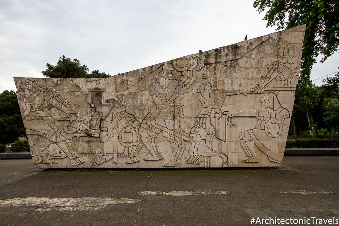 Monument of 300 Aragveli in Tbilisi, Georgia | Soviet monument | former USSR