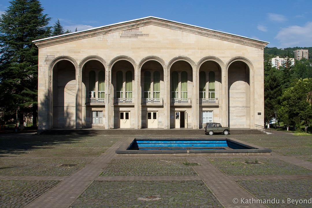 Palace of Culture (Culture Centre) in Chiatura, Georgia | Stalinist Empire style | Soviet architecture | former USSR