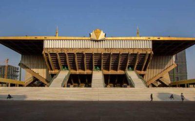 Distinctive Architecture in Phnom Penh, Cambodia