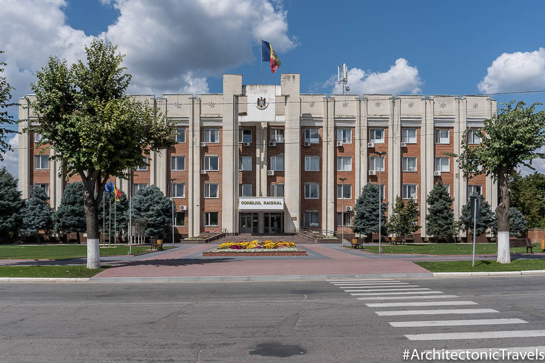 District Council in Anenii Noi, Moldova | Modernist | Soviet architecture | former USSR