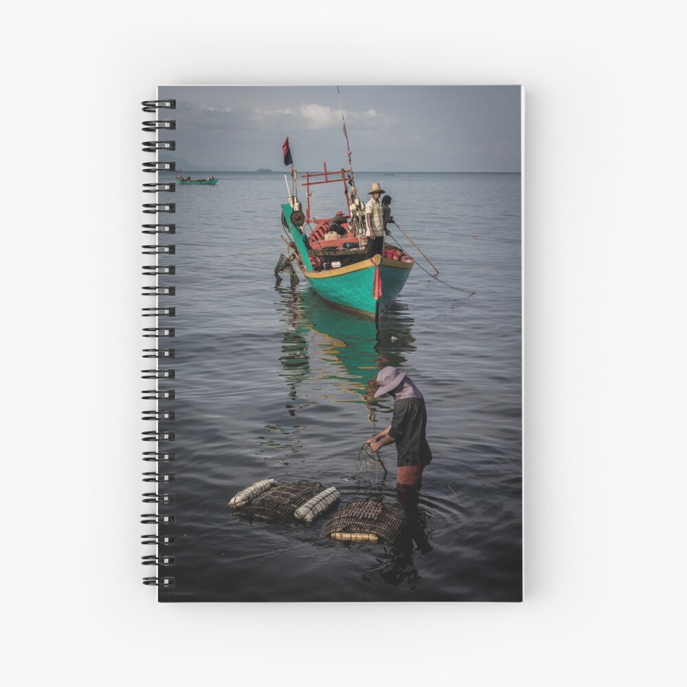 Kep fishing boats notebook (Cambodia travel blog)