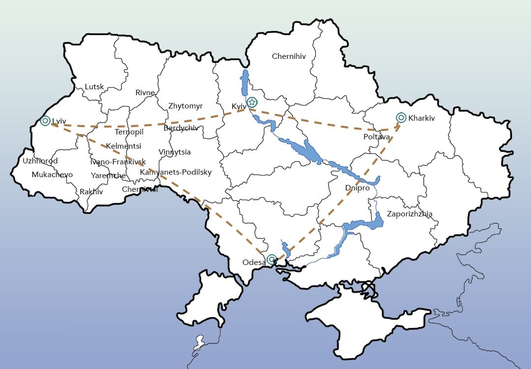Ukraine by train Itinerary 2