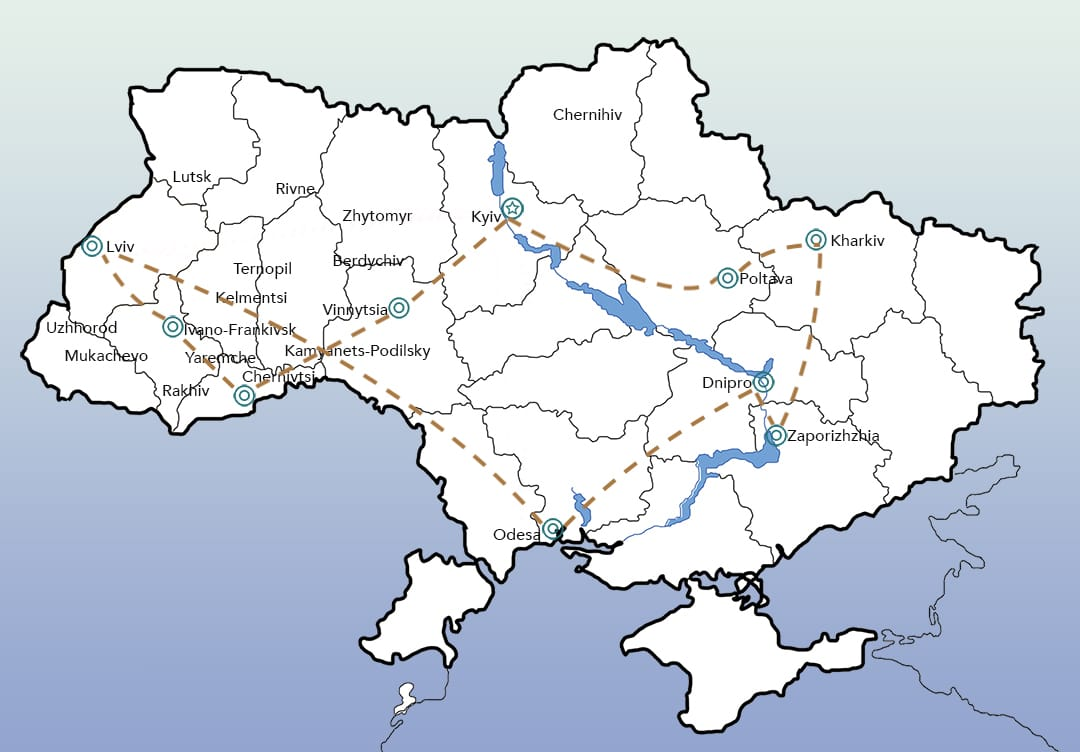 Ukraine by train Itinerary 3