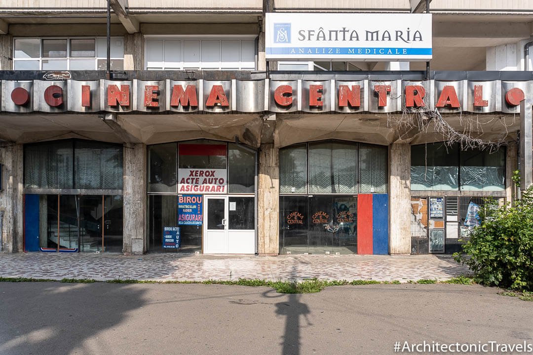 Former Cinema Central  in Brăila, Romania | Modernist | Socialist architecture | former Eastern Bloc