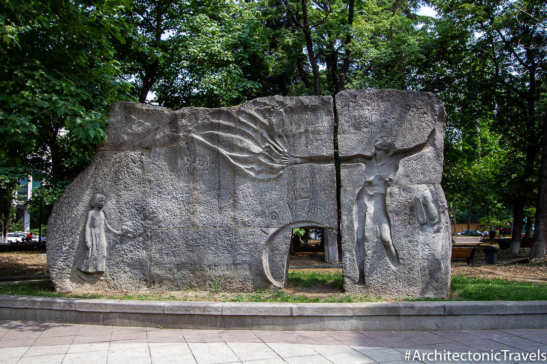 Wall of the Remembrance (Eternal Memory of the Heroes of the Revolution) in Tbilisi, Georgia | Soviet monument | former USSR