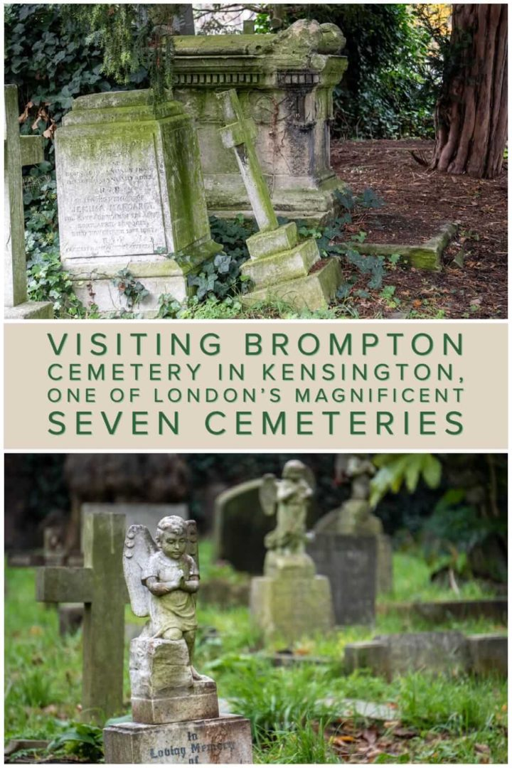A photo essay and quick guide to Brompton Cemetery in Kensington. A historical graveyard that is one of London's Magnificent Seven Cemeteries #VisitGB #culture