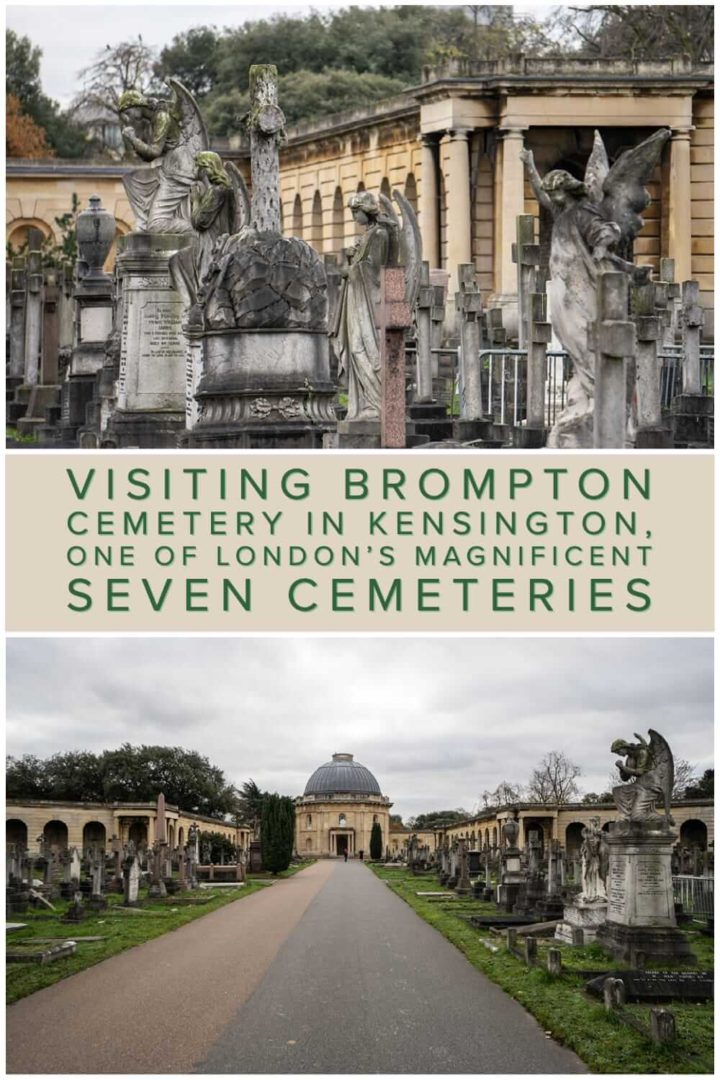 A photo essay and quick guide to Brompton Cemetery in Kensington. A historical graveyard that is one of London's Magnificent Seven Cemeteries #VisitGB #tombstonetourists