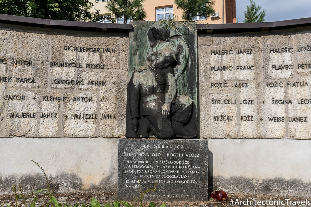 Monument to the Fallen in the First World War in Črnomelj, Slovenia | War memorial | former Yugoslavia